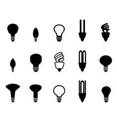 Light bulbs shape collection vector