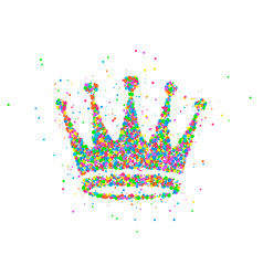 Abstract crown king vector