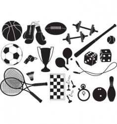 Sports equipment vector