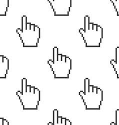 pointer pixel cursor seamless pattern vector image