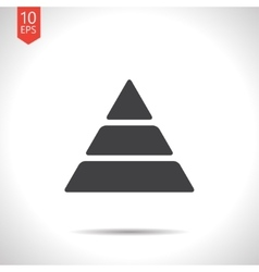 pyramid icon Eps10 vector image
