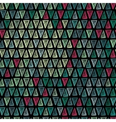 Seamless drawing triangle pattern vector