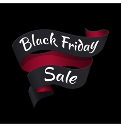 Black friday tape with text advertisement vector