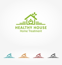 Healthy house vector