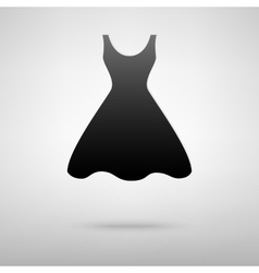 Dress black icon vector