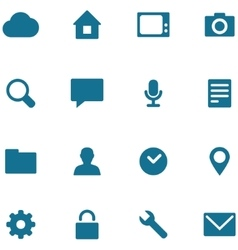 Set icons and buttons vector