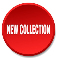 New collection red round flat isolated push button vector