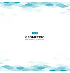 abstract geometric square blue and white color vector image vector image