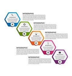Abstract hexagon business options infographics vector