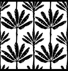 Banana tree seamless pattern vector