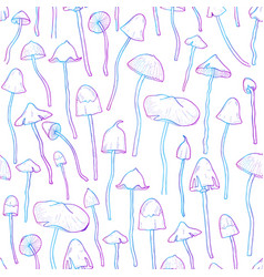 Beautiful inedible hallucinogenic fungus seamless vector