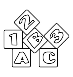 Bricks icon outline style vector