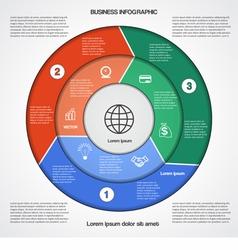 Business circular infographic vector