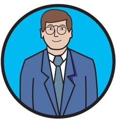 Business man cartoon vector image vector image
