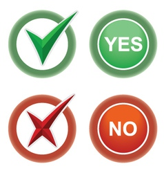 Button Yes and No vector image vector image