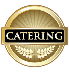 Catering gold label vector