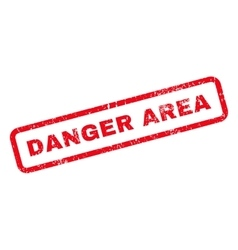 Danger area text rubber stamp vector