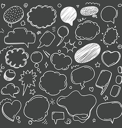 Different sketch style speech clouds collection on vector