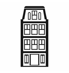 Dutch houses icon simple style vector