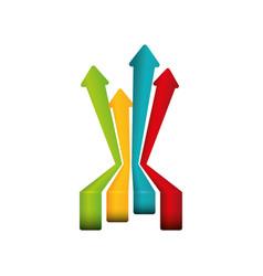 financial growth symbol vector image