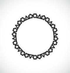 Frame made of diamonds vector