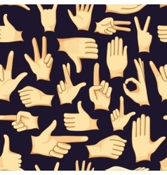 Hand signs icons set pattern vector image vector image