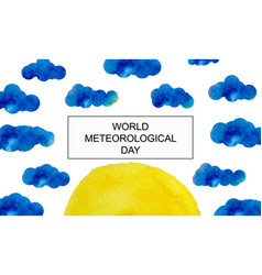 International day of meteorology march 23 vector