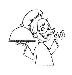 Isolated male chef cartoon design vector