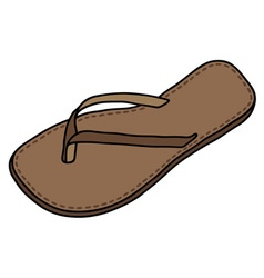 Leather sandal vector image vector image