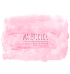 Light pink soft watercolor texture stain vector