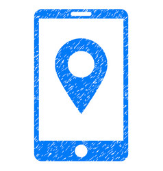 Mobile gps grunge icon vector