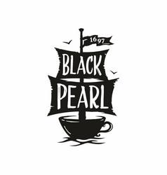 Modern professional sign logo cafe black vector