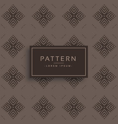 Old vintage style pattern design vector