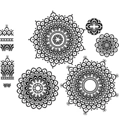Ornament pattern with pattern brash vector