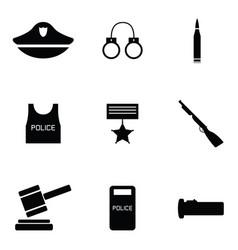 police icon set vector image vector image