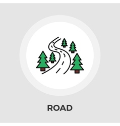 Road flat icon vector image vector image