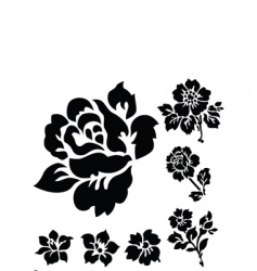rose ornamental vector image