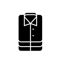 shirt-16 icon black sign on vector image vector image