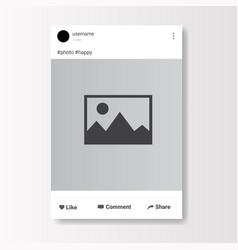 Social network photo frame on white background vector