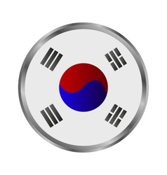 South Korean flag vector image