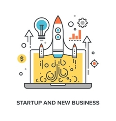 Startup and new business vector