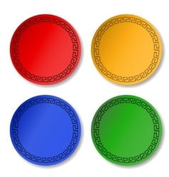stickers color blank vector image
