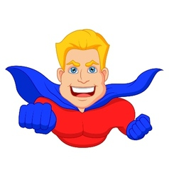 Superhero cartoon flying vector