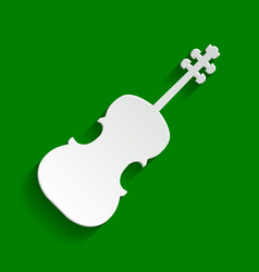 Violin sign paper whitish vector