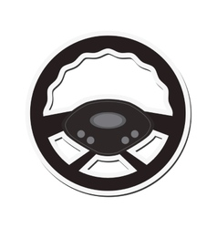 Steering wheel car automobile design vector