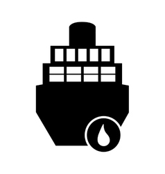 Cargo ship and droplet icon vector