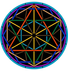Color magic hexagram vector