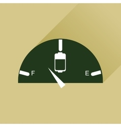 Flat web icon with long shadow battery charge vector