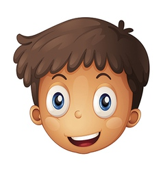 A face of a boy vector image
