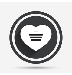 Love shopping cart sign icon online buying vector
